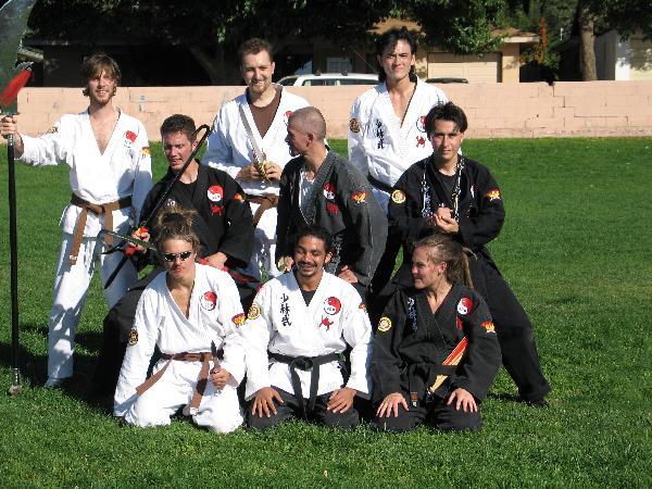 Martial artists...