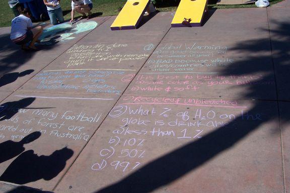 Chalk on Sidewalk...