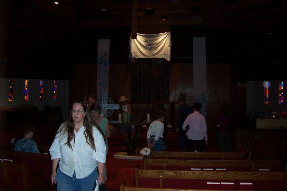 Walk Inside Church...